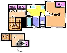 兵庫県神戸市東灘区住吉東町1丁目の賃貸アパートの間取り