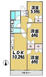 三井フラット[103号室]の間取り