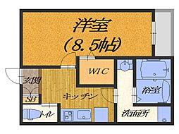 大阪府堺市北区宮本町の賃貸アパートの間取り