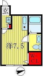 ラ・ヴィータ・フェリーチェ新鎌ケ谷[201号室]の間取り