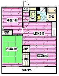 山幸マンション[3階]の間取り