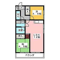 アクセス高辻[1階]の間取り