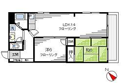 マンションVIP中野坂上[206号室]の間取り