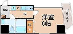ラグゼ十三東[2階]の間取り