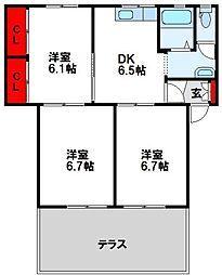 セトル古賀壱番館[1階]の間取り