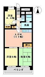 あおいマンション[1階]の間取り