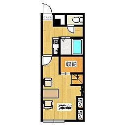 レオパレスサンドペアー[1階]の間取り