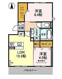 Bell Demeure A棟[3階]の間取り