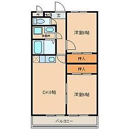 ドリームマンション佐野II[2階]の間取り
