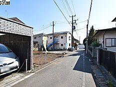 接道状況および現場風景 西東京市東町3丁目