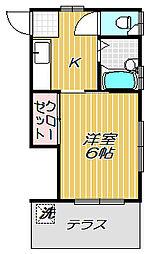 メゾン白樺[1階]の間取り