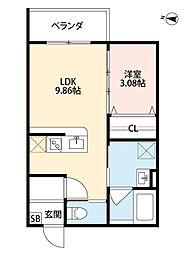 新築デザイナーズアパート laglycine(ラグリシーヌ)[3階]の間取り