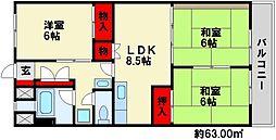 岩崎第3ビル[5階]の間取り