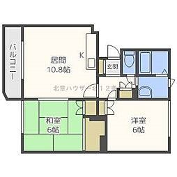 ラフィネ27[2階]の間取り