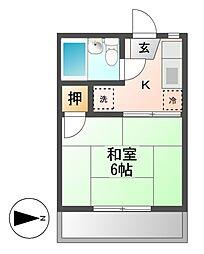 フォーブル平松[2階]の間取り