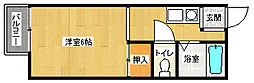 京都府京都市山科区東野八反畑町の賃貸マンションの間取り