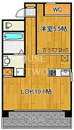 IL ROSSO堀川六角[1303号室号室]の間取り