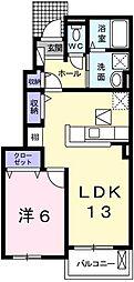 プランドールIII[1階]の間取り
