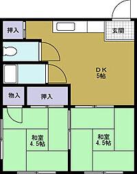 オリベマンション[4階]の間取り