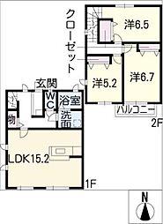 [タウンハウス] 愛知県名古屋市千種区園山町2丁目 の賃貸【/】の間取り