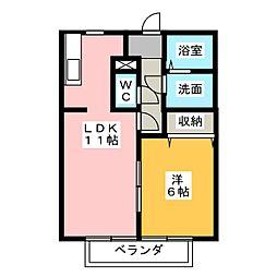 ソレイユ 長沢 I[2階]の間取り