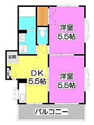 メゾンドY&Y[3階]の間取り