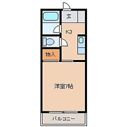 オーブドゥ松葉[1階]の間取り