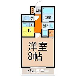 愛知県名古屋市中区千代田2丁目の賃貸マンションの間取り