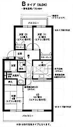 オクトス市ヶ尾(2)[103号室]の間取り