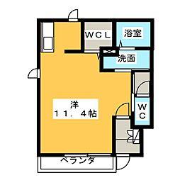 メゾンミーツA,B[1階]の間取り