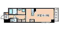 JR山陽本線 明石駅 徒歩12分の賃貸マンション 1階ワンルームの間取り
