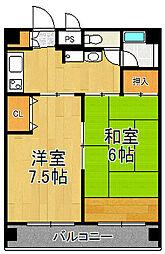 M STYLE MUKONOSOU HIKARU BLD.MANSION[5階]の間取り