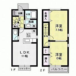 Confort B[2階]の間取り