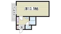 ノベラ御幸通[7階]の間取り