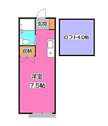 シャトレー入曽[2階]の間取り