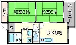 オークヒルズ北大阪[2階]の間取り