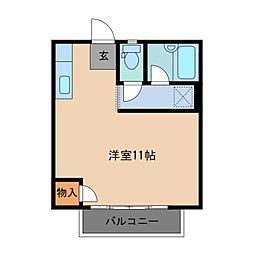 三重県鈴鹿市東旭が丘4丁目の賃貸アパートの間取り