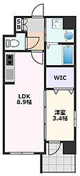 アンフィニXVIII吹田昭和町 1階1LDKの間取り