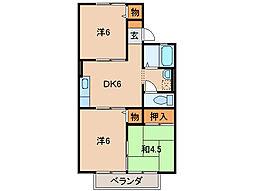 落合ハイツIII[2階]の間取り