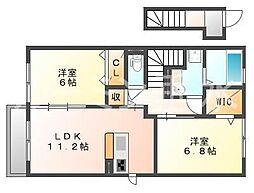 サニーコート加佐B棟[2階]の間取り