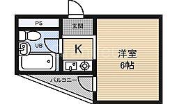 オルバス関目[2階]の間取り