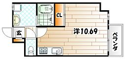 Studie KOKURANORTH[2階]の間取り