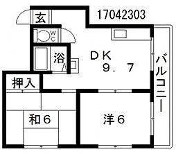 オムズコート[4階]の間取り