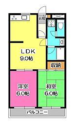 レヂオンス西所沢[3階]の間取り
