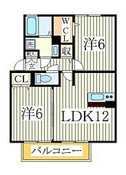 メゾンド・フォレ[2階]の間取り