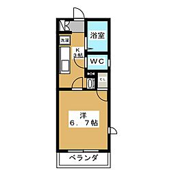 スマイルYADA[1階]の間取り