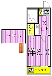 シンセイ1号棟[2階]の間取り