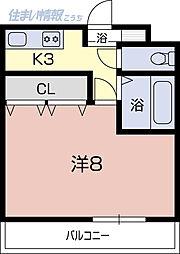 コーポフレンズ[3A号室]の間取り
