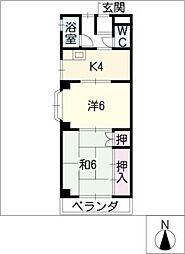 トマツマンション[3階]の間取り