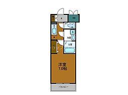 JR大阪環状線 玉造駅 徒歩7分の賃貸マンション 9階1Kの間取り